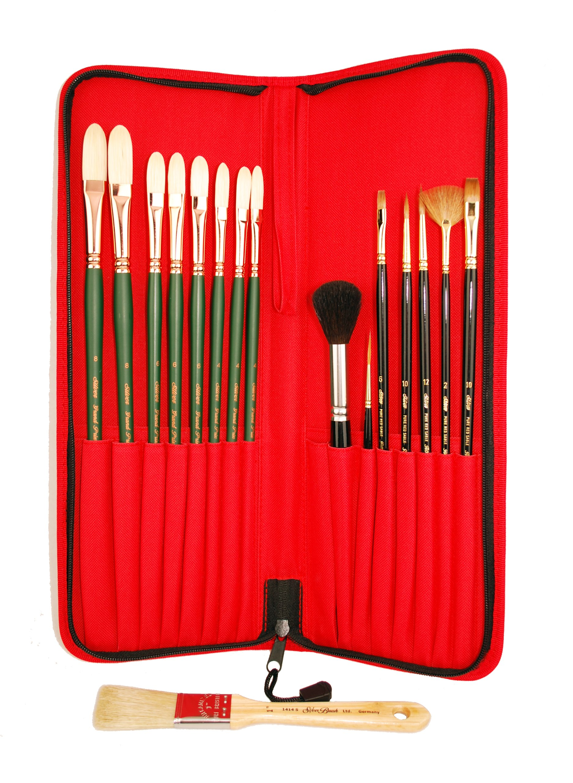 Silver Brush LW-7717 Luana Luconi Winner Traveling Essentials Brush Set, 17 Per Pack