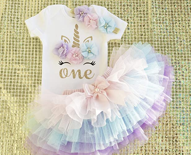 105a4bd0fb457 Amazon.com: Unicorn Birthday Outfit,Unicorn 1st Birthday,1st Birthday outfit  girl,First Birthday Shirt,Unicorn bodysuit,Pink Blue Lavender One year tutu:  ...