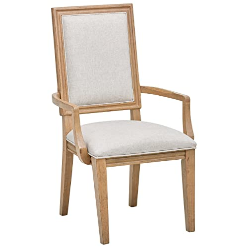 Stone Beam Jon Casual Farmhouse Wood Dining Chair, 40 H, Pack of 2, Beige