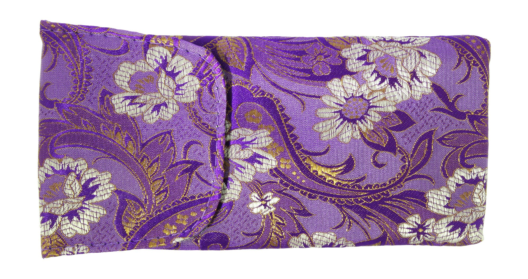 3 Pack Floral Eyeglass Case Top Closure, Slip In Eyeglass Case Soft Fits Medium To Large Glasses, Women by Ron's Optical (Image #4)