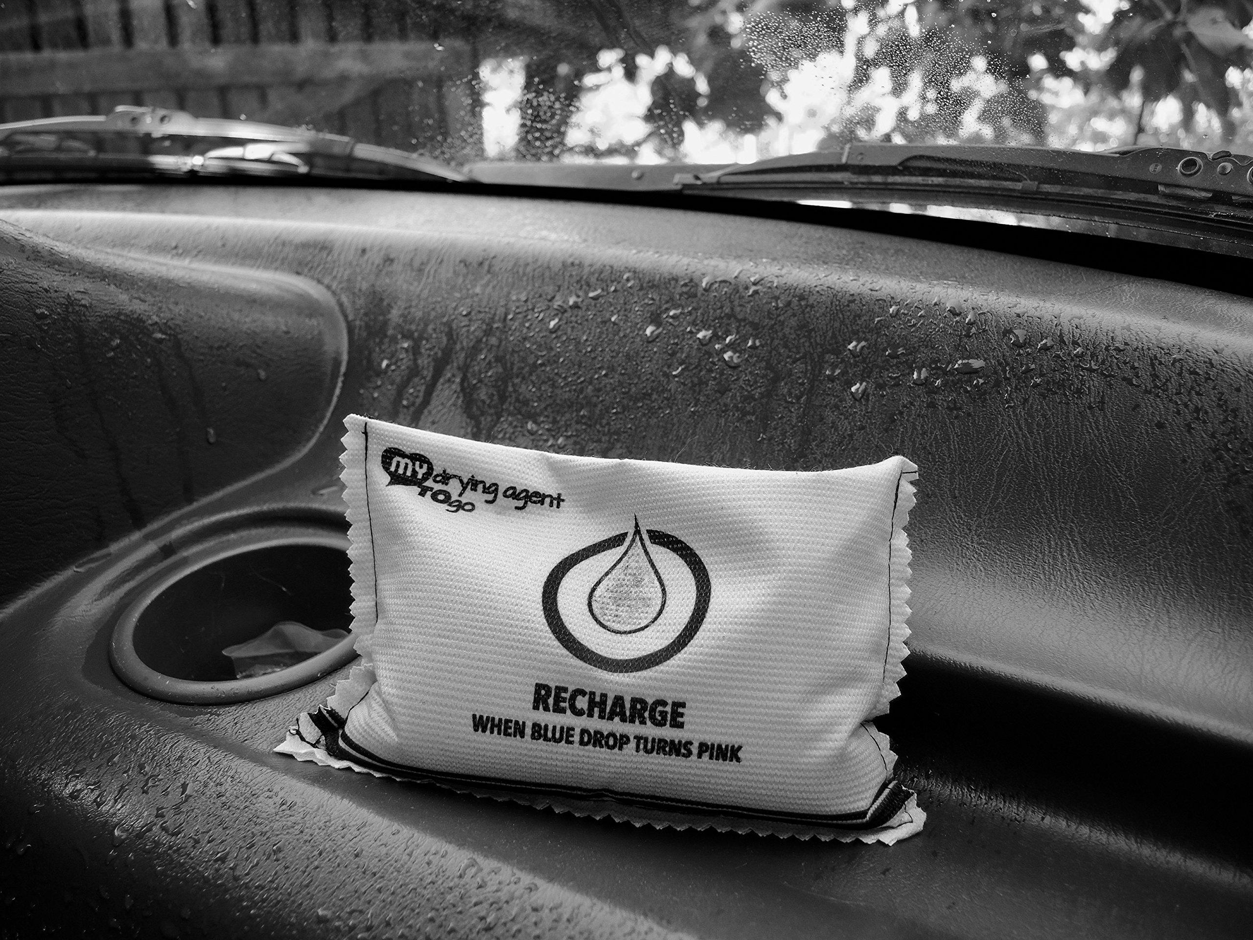 Deshumidificador, gel de silice reutilizable My drying agent TO go - elimina la humedad evitando el moho, hongos y los malos olores - ideal en la auto-caravana, armario, barco, coche, el hogar, baño