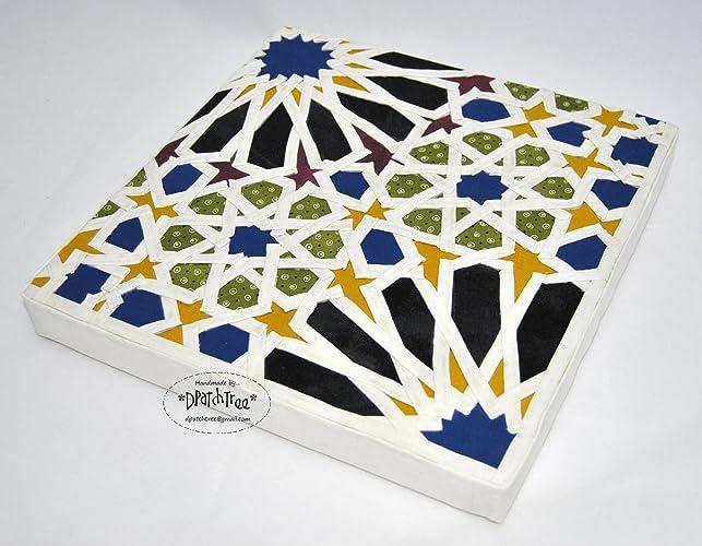 Reproducción Mosaico de la Alhambra*. Cuadro hecho a mano ...