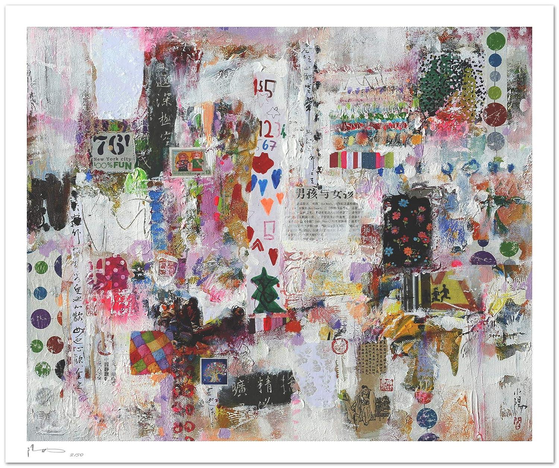 Reproducción de arte - Boys and girls - sobre papel de acuarela 300g/m² con textura, de alta calidad: Amazon.es: Handmade
