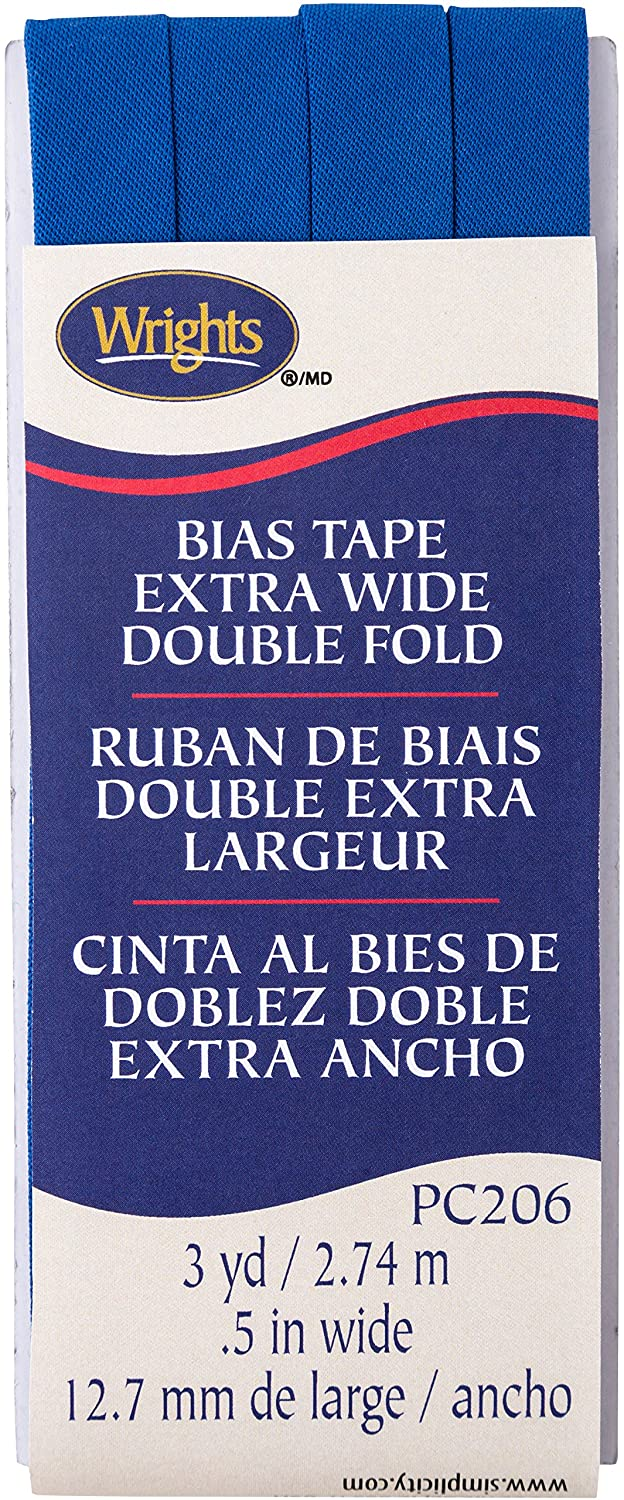 Wrights Snorkel Blue Double Fold Bias Tape 1/2 x 3 yd 117206672