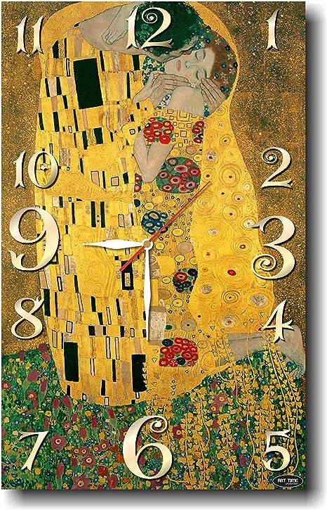 gustav klimt the kiss handmade wall clock Silent mechanism