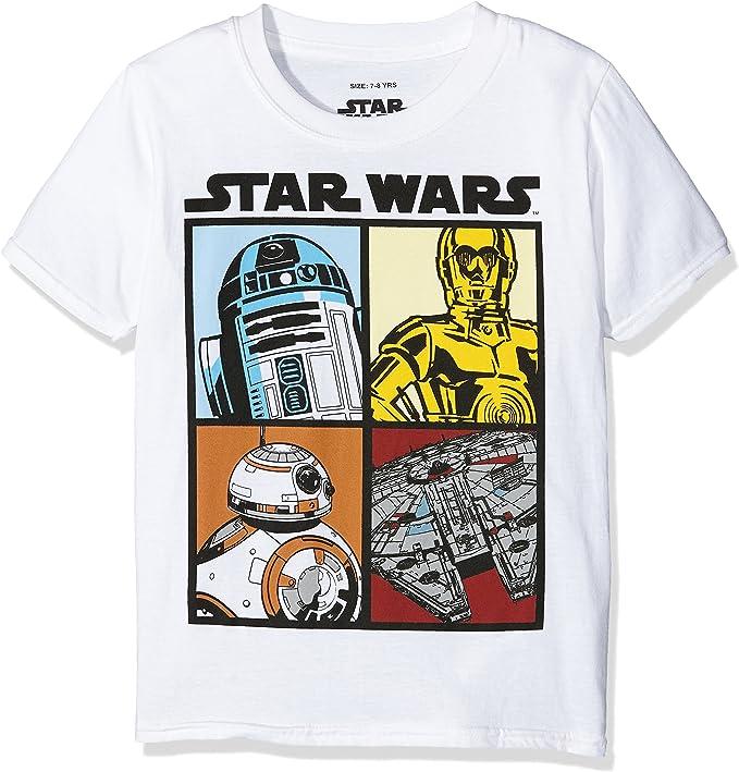 7-8 Years Empire Camo Mask T-shirt Black Star Wars Boys Long sleeved