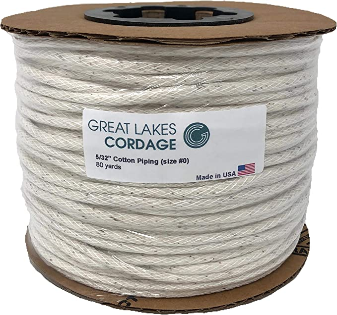 Cotton Piping Cord Size 3 10//32 5//16