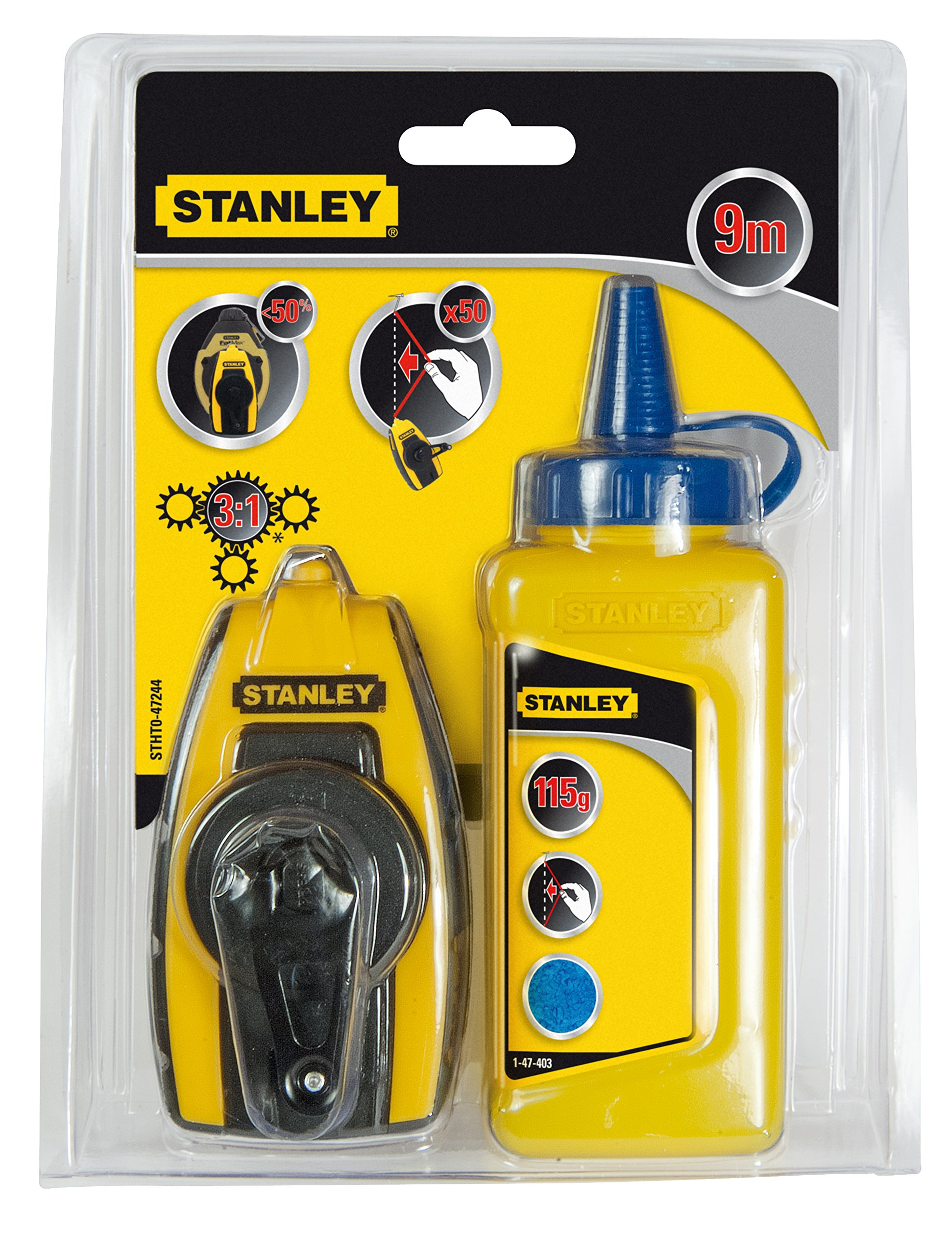 Stanley STHT0-47244 Chalk Line-Set, Multicolor by Stanley (Image #1)