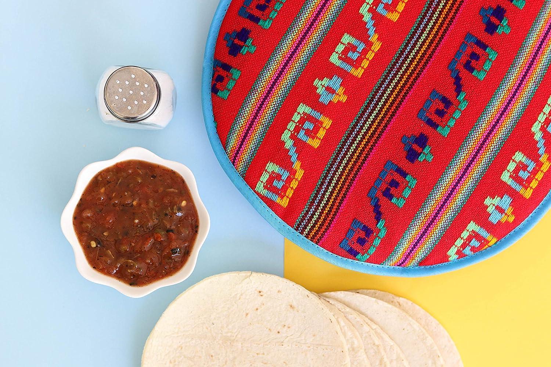 Amazon.com: Auténtica bolsa para calentar tortilla de tela ...