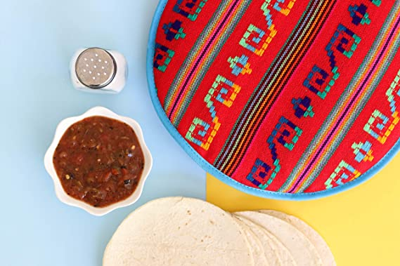 para Microondas Bolsa De Tela para Uso En Microondas para Mantener La Comida Caliente Bolsa para Calentador De Tortillas red dieny Bolsa De Tela Aislada para Calentador De Tortillas De 12 Pulgadas