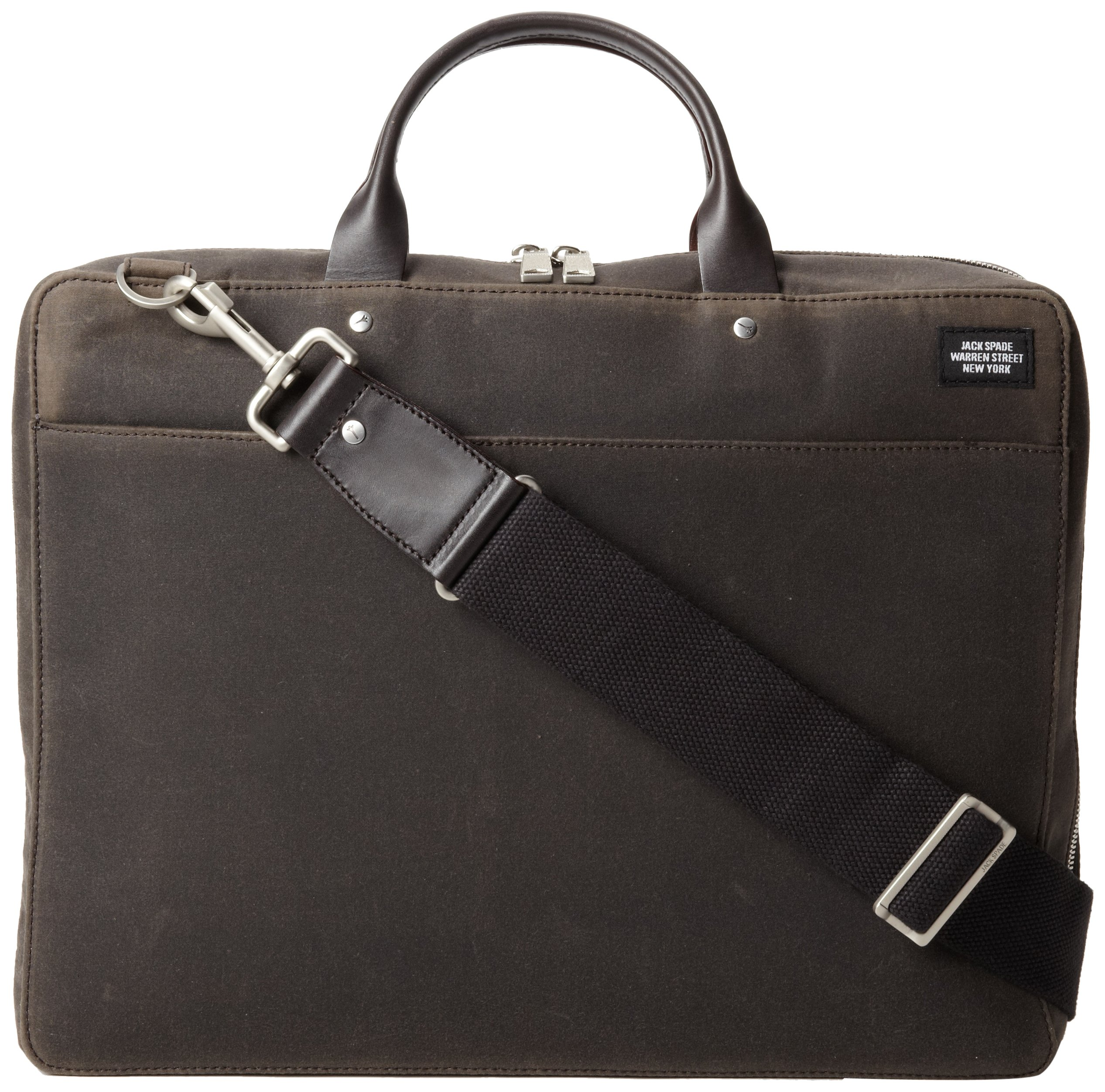 Jack Spade Men's Waxwear Laptop Case,Chocolate,One Size by Jack Spade