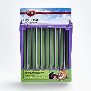 Kaytee Rabbit Hay Buffet Feeder with Snap-Lock Lid (Colors May Vary)