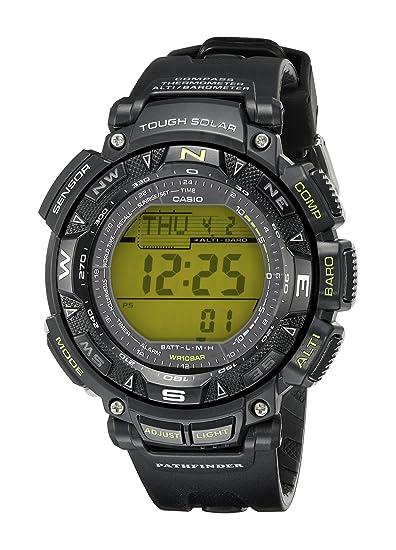 Casio PAG240-1B - Reloj digital para hombre (cuarzo y resina con pantalla verde