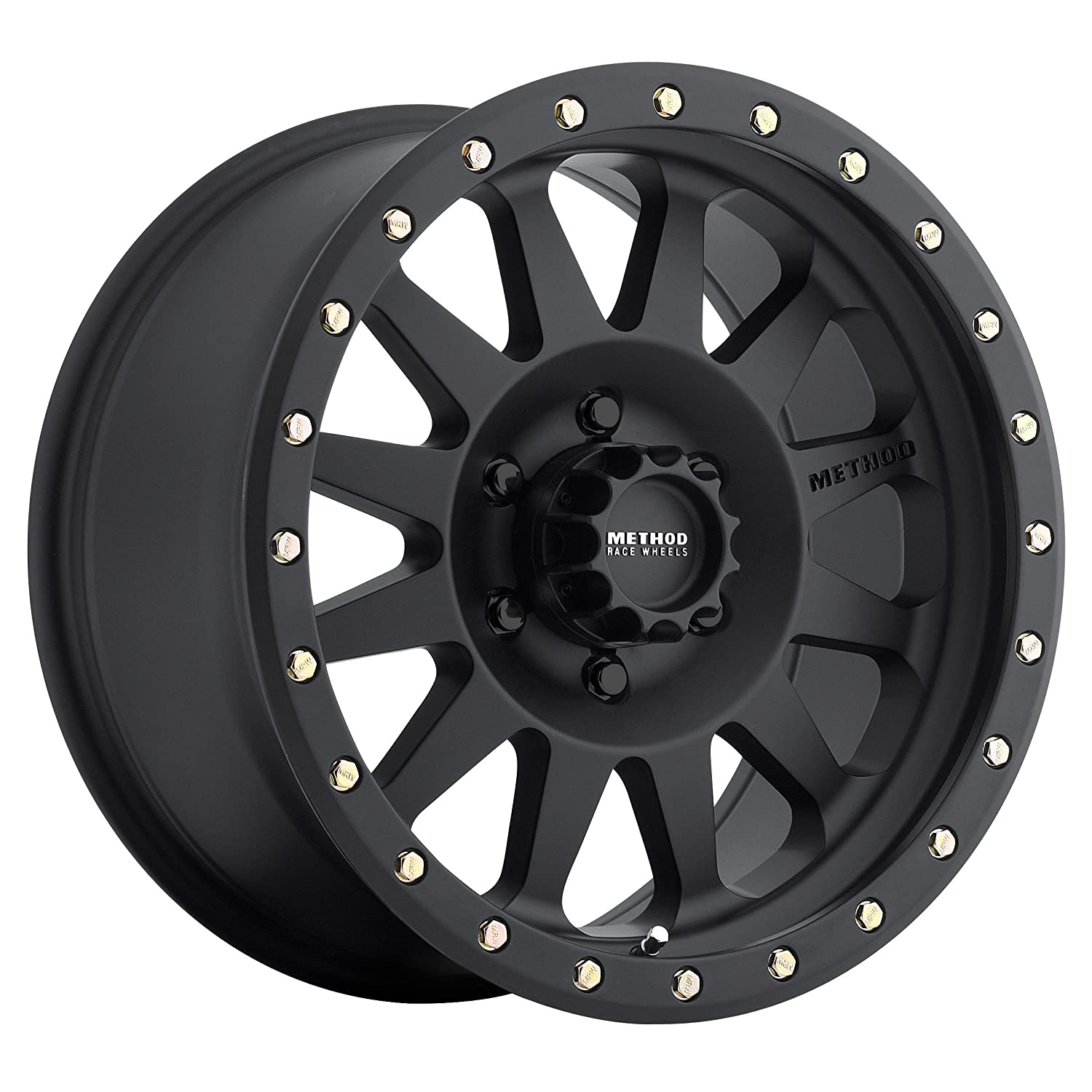 Method Race Wheels Double Standard Matte Black Wheel with Zinc Plated Accent Bolts (16x8'/6x5.5') 0 mm offset MR30468060500