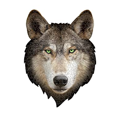 Madd Capp Puzzles - I AM Wolf - 550 Pieces - Animal Shaped Jigsaw Puzzle: Toys & Games