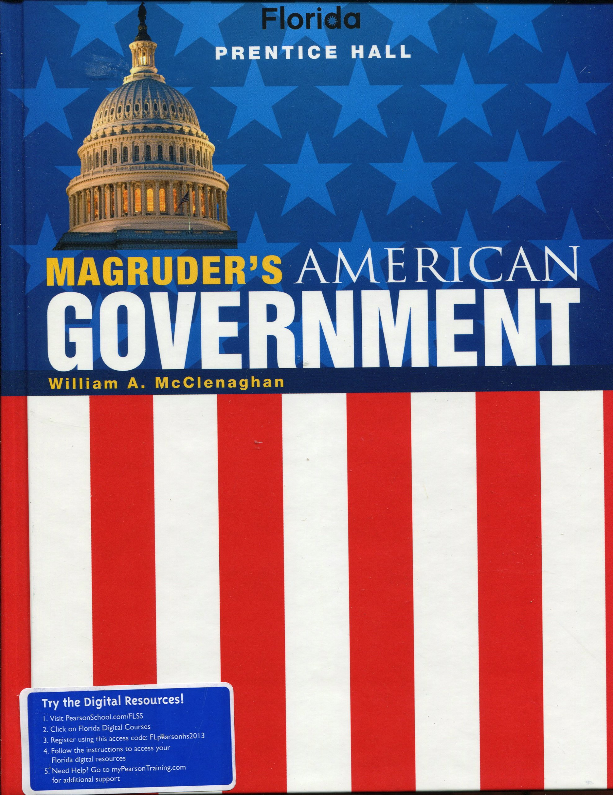 Florida Edition, Magruder's American Government, Student Textbook by  William A. McClenaghan (2011-05-03): William A. McClenaghan: 9780133183405:  Amazon.com: ...