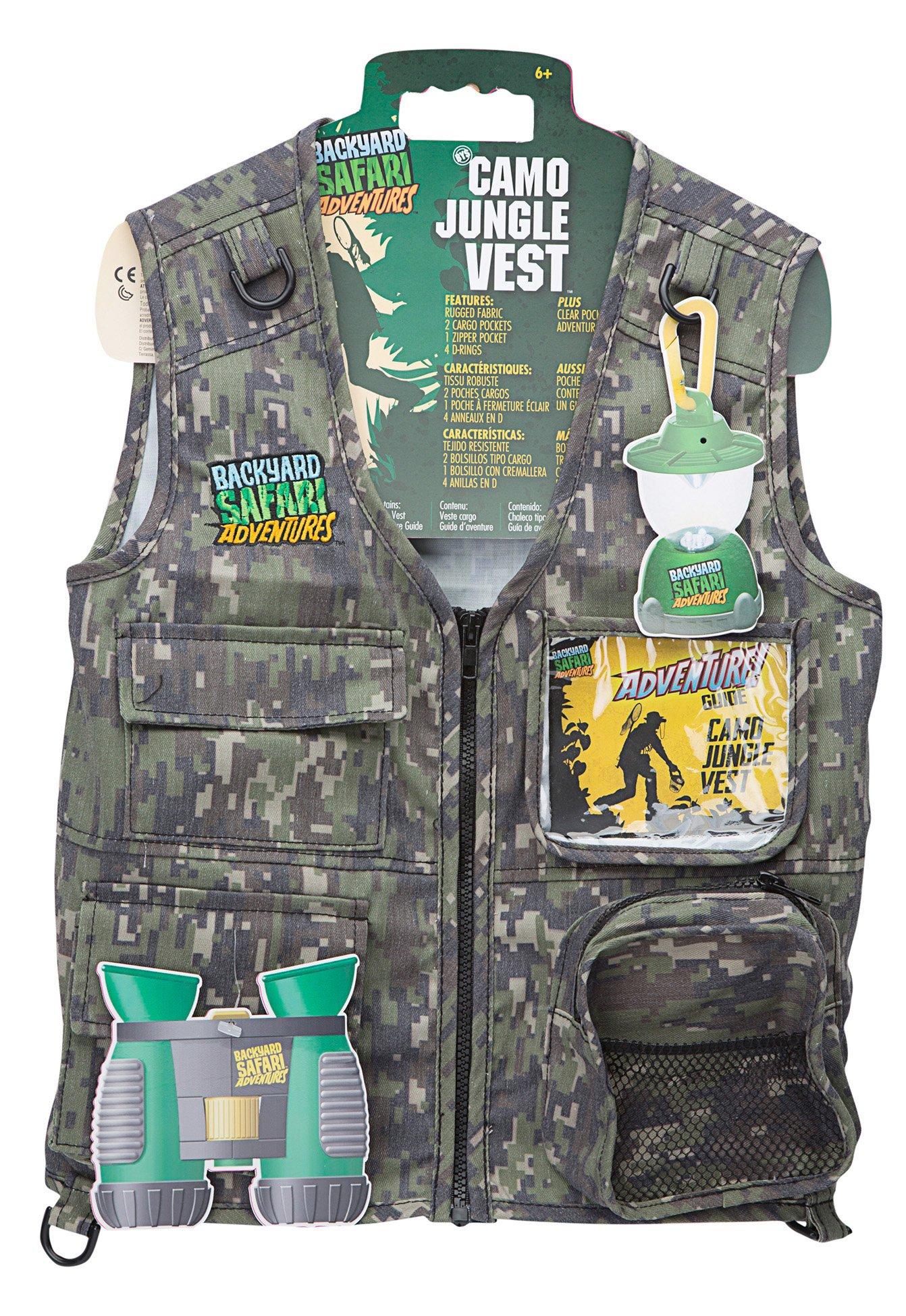 Backyard Safari Jungle Camo Cargo Vest by Backyard Safari Company