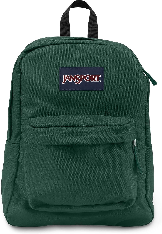 JanSport Superbreak Backpack – Collegiate Forest – Classic, Ultralight