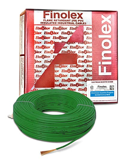 Finolex 2.5-Sqmm FR PVC Insulated Cable (Green, 90 Mtr)