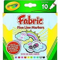 Crayola 10ct Fabric Markers Fine Line