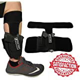Anti-Slip Ankle Holster   Universal Neoprene Concealed Carry Leg Holster   Magazine Pouch & EXTRA Strap   Fits: Glock 26, 27, 42, 43, Smith & Wesson Shield, Bodyguard 380, Ruger LCP, LC9, Sig Sauer