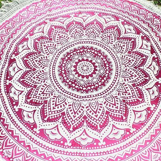 Ezeso indio Mandala playa toalla redonda manta tapiz algodón ...