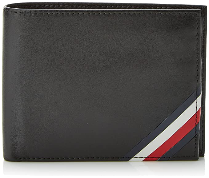 Tommy Hilfiger - Corp Edge Extra Cc And Coin, Carteras Hombre, Negro (Tommy