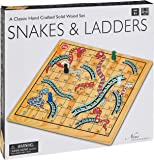 Wooden Snakes & Ladders Game