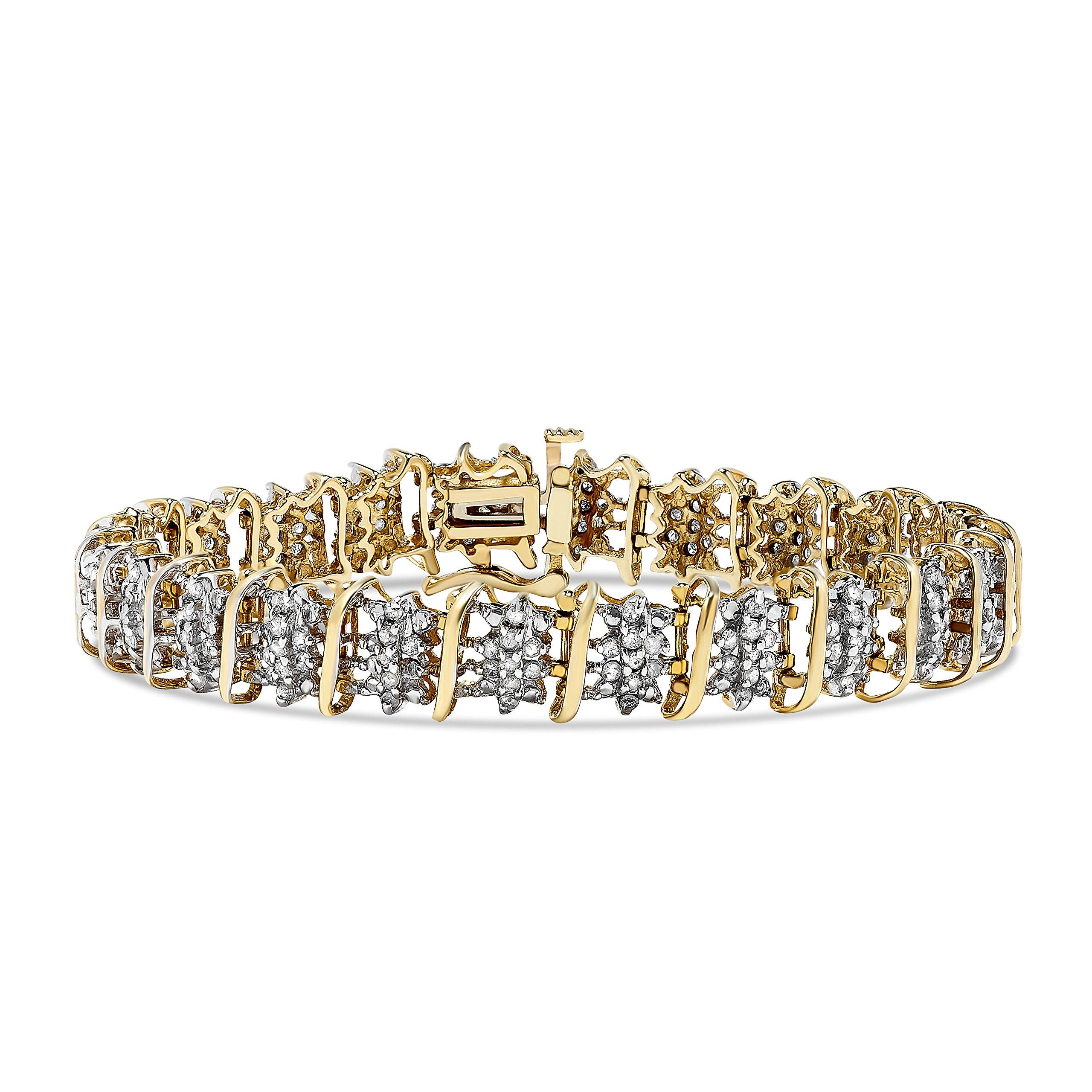 10k 2.00ct Diamond Bracelet in Yellow Gold