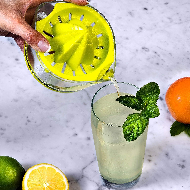 EZ Citrus Juicer - Lemon Juicer, Handheld Manual Lemon Squeezer Press with ARK Reamer, Lemon-lime color, 8 oz.   Top Rated Premium Design