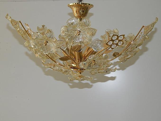 Plafoniera Fiori Murano : Barovier e toso plafoniera fiori murano catawiki