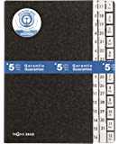 Pagna Index - Carpeta con separadores de índice (1 Jan- 31 Dec), negro