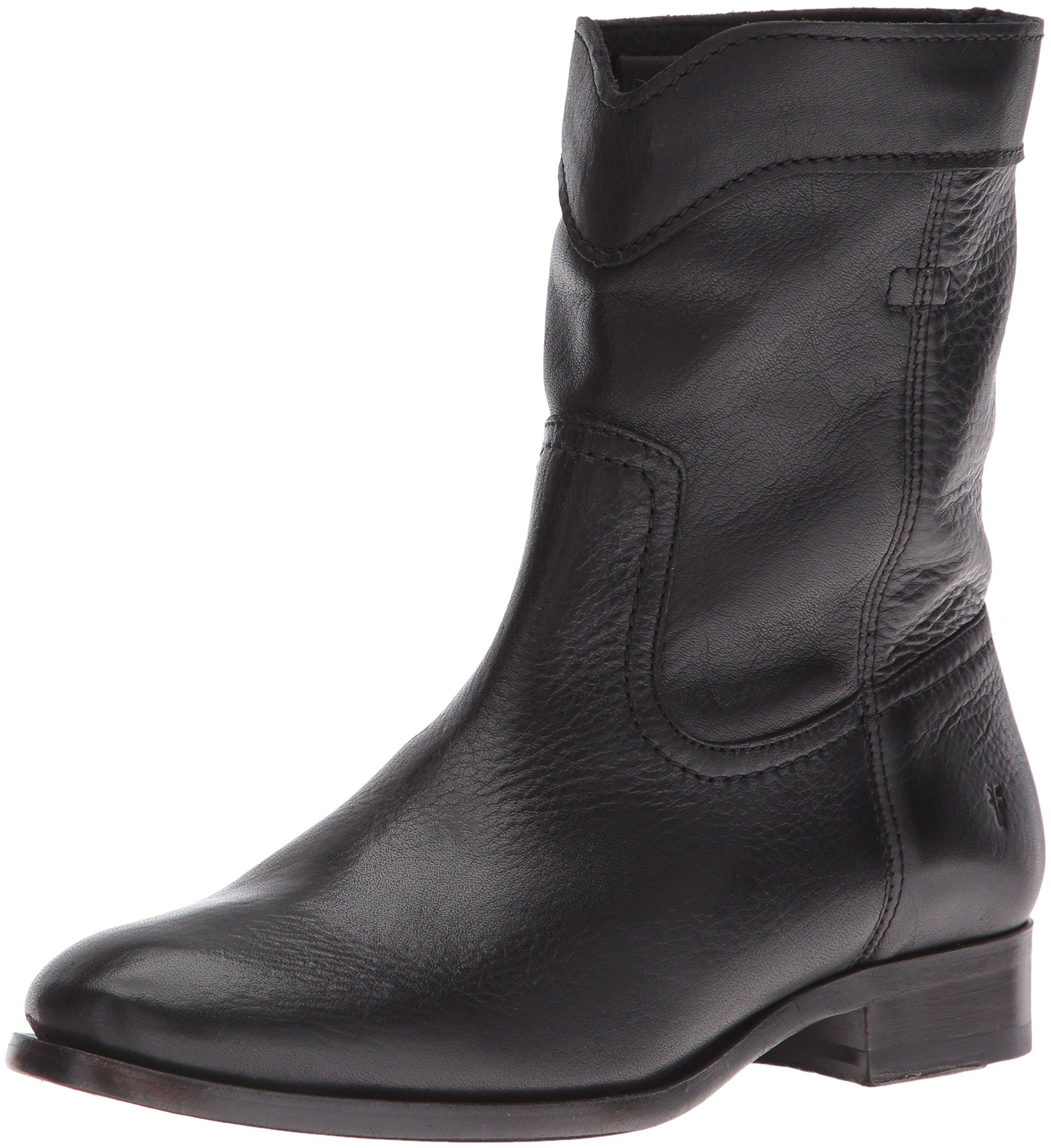 FRYE Women's Cara Roper Short Boot, Black, 8 M US
