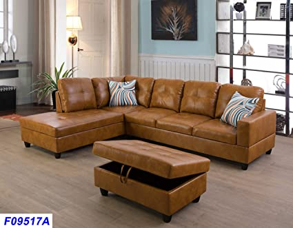 Amazon.com: Lifestyle Furniture Left Facing 3PC Sectional Sofa Set ...