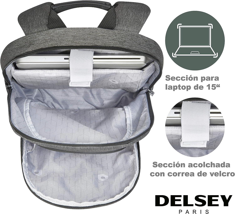 Delsey Esplanade Sac /à dos 43 cm compartiment Laptop