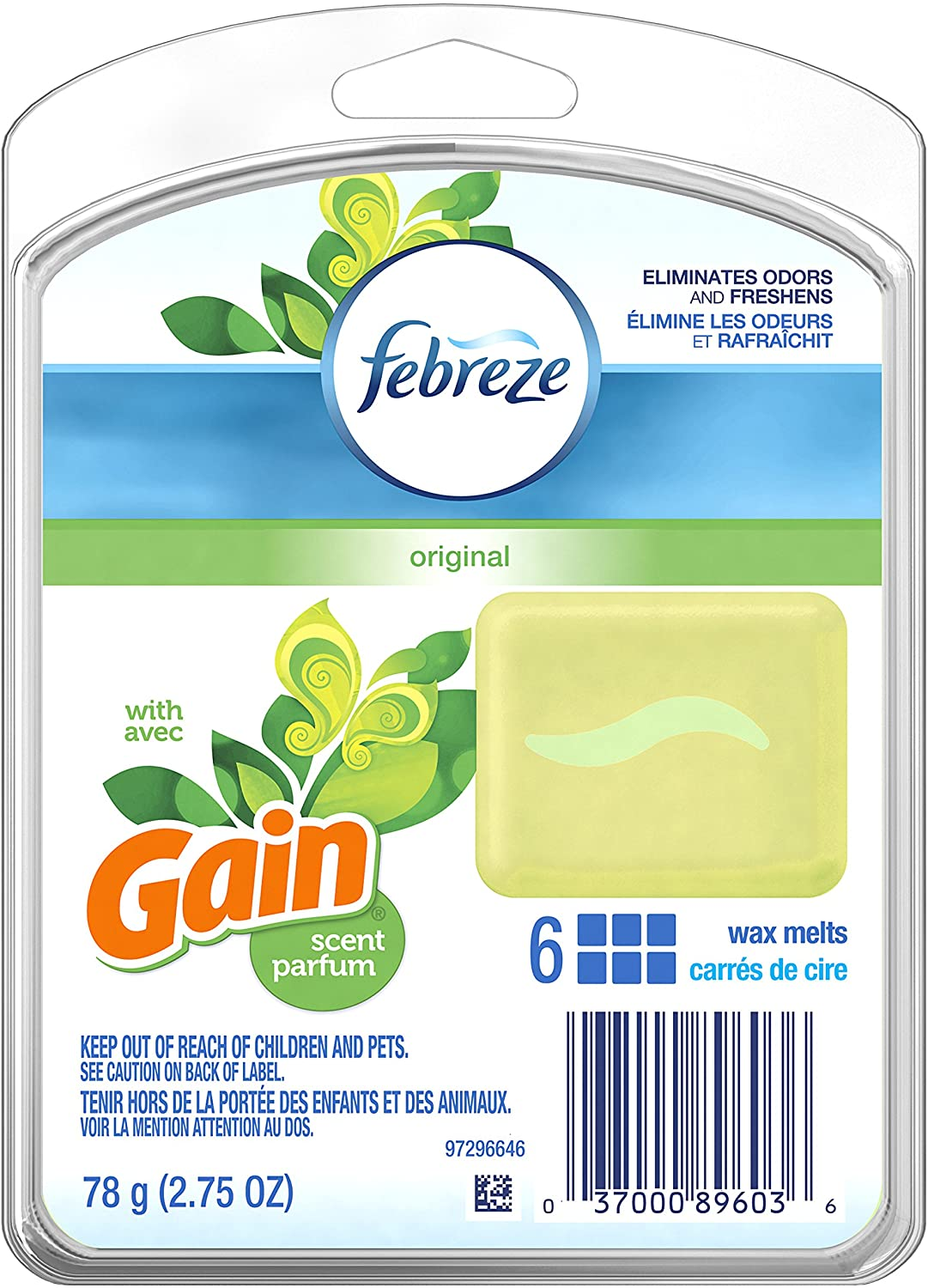 Febreze Wax Melts Gain Original Air Freshener (1 Count, 2.75 Ounce)