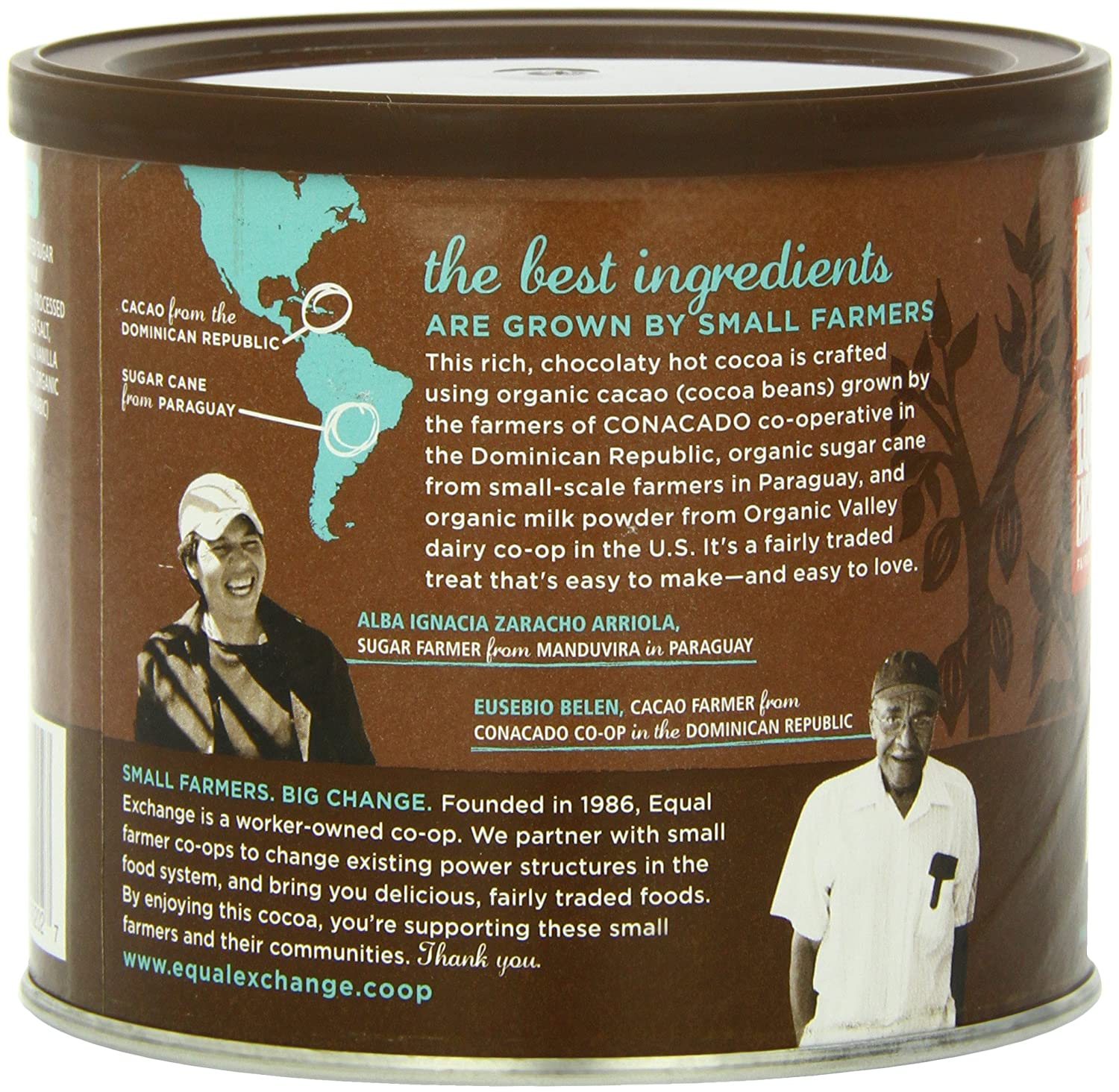 Amazon.com : Equal Exchange Organic Hot Cocoa Mix, 12-Ounce Tins ...