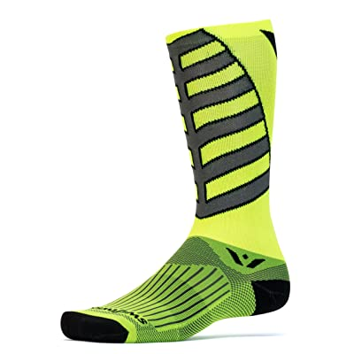 Swiftwick VISION TEAM EIGHT, Tall Crew Socks for Cycling
