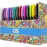 Caneta Gel, CIS, Trigel, Box com 60 cores