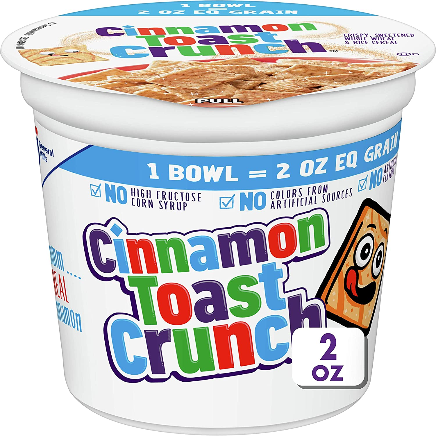 Cinnamon Toast Crunch Breakfast Cereal Cups, 2 oz (Pack of 12)