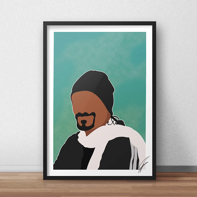 Ilustraci/ón inspirada en Snoop Dogg