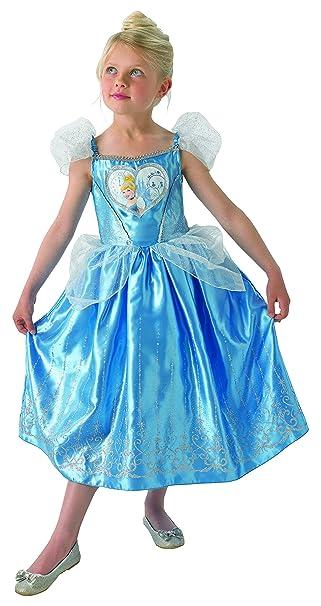 fa61453d48d Amazon.com  Disney Princess Cinderella Love Heart Fancy Dress Costume Age  3-4 Years  Clothing