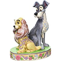 Enesco Disney Tradition Oggetto Decorativo Lilly e il Vagabondo 60Th Anniversario, Resina