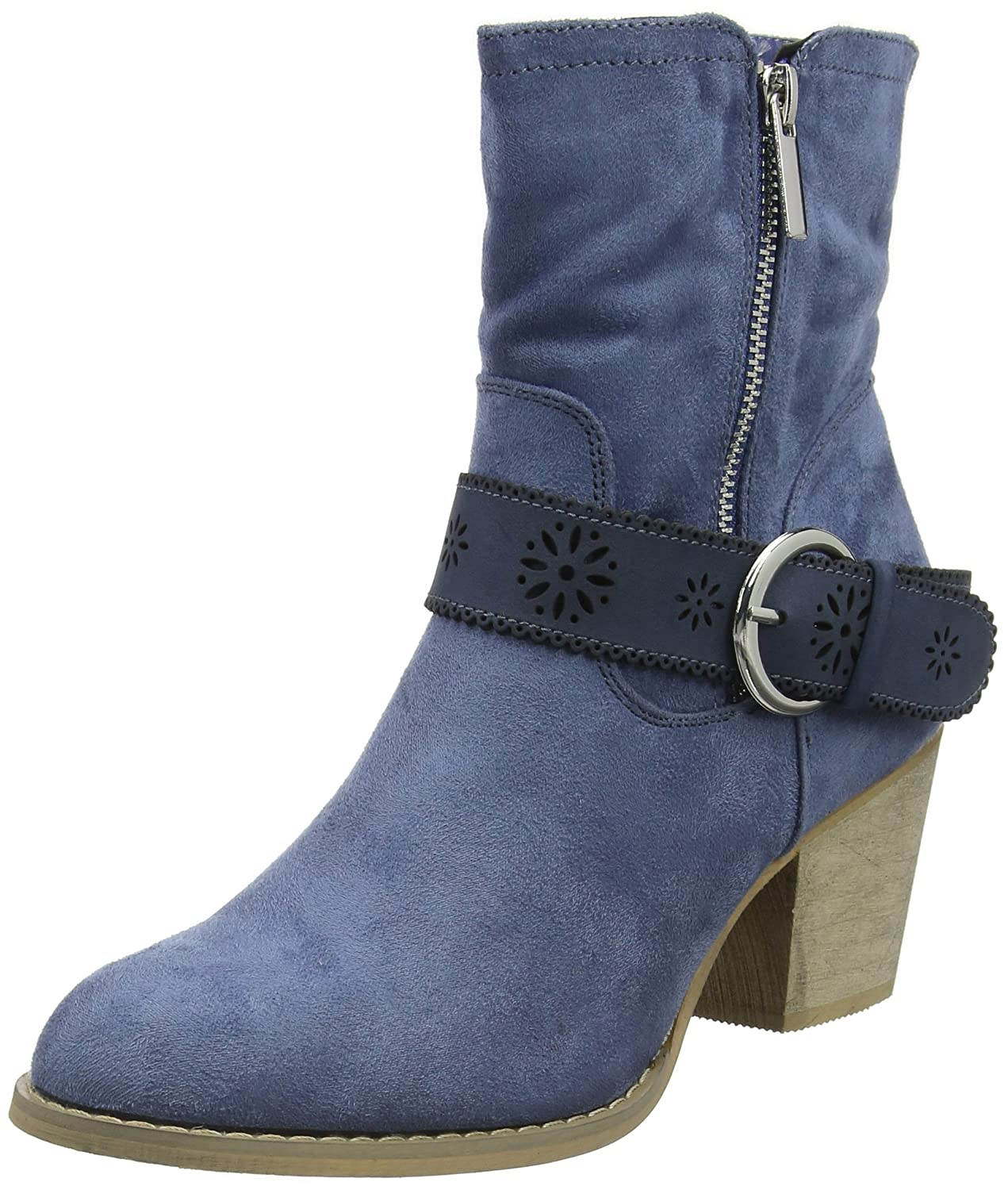 Joe Browns Brooklyn Ankle Boots, Botines para Mujer38 EU|Azul (Blue A)
