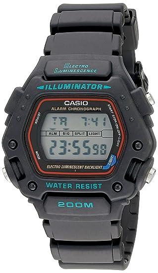 Casio DW290-1V - Reloj para hombres, correa de resina color negro: Amazon.es: Relojes