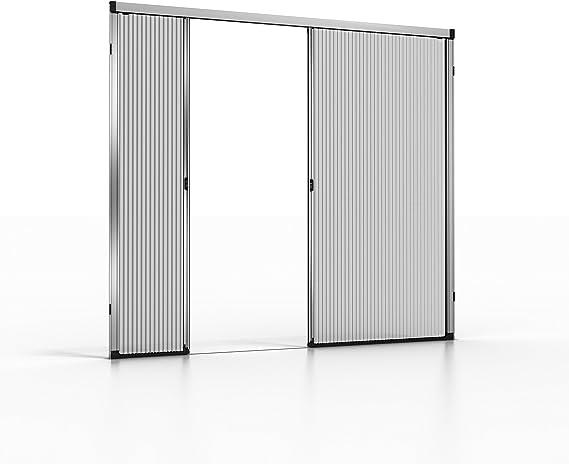noflystore Platinum. 01 medida plisada Fly pantallas para puertas y ventanas, aluminio, negro, 150 x 200 cm: Amazon.es: Hogar