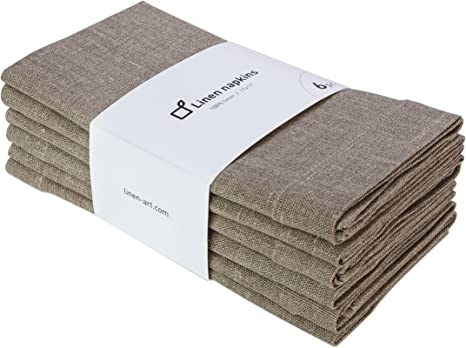 6 Dye Free Rustic Natural Dinner Napkins Eco Friendly rustic linen reusable cloth napkins rustic cloth napkins