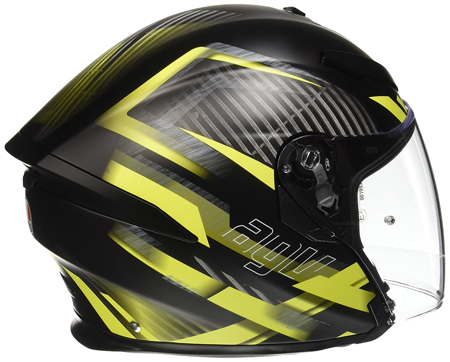 Amazon.es: AGV Casco Moto K-5 Jet E2205 Multi, Urban Hunter Matt Black/Yellow, L