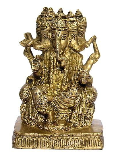 Lord Ganesh Vintage Sculpture Statue Ganesha Ornament Figurine Divine Handmade