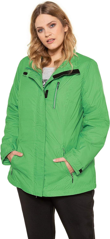 Ulla Popken Women's Plus Size Lightweight Functional Jacket 691524 Green (Dark Grass Green Multi 69152441)